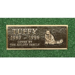 Cast Bronze Pet Marker Large