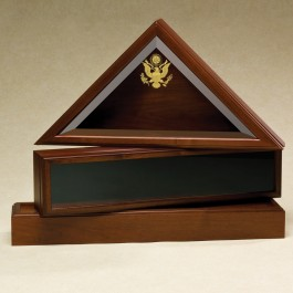 Presidential Flag Case (shown with optional medal display and urn)