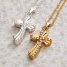 Quartz Cross Pendants