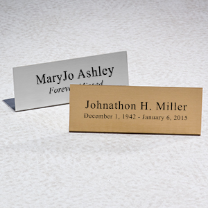 Engraved Easels